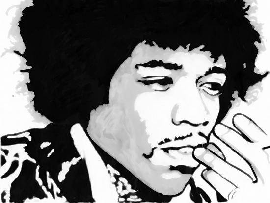 Jimi Hendrix por Jakarta